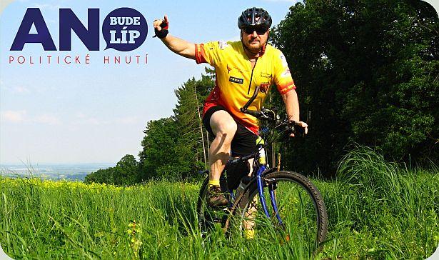 Pavel Dopita na kole